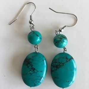 Authentic turquoise drop earrings!